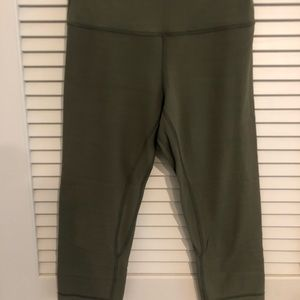 Lululemon Align Crop Leggings green sz 8